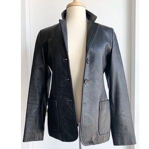 Talula Babaton leather blazer jacket size XS